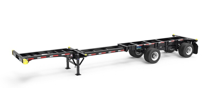 The CIMC Intermodal Equipment Revere premium specification chassis isoffered with several high quality components as standard equipment.  - Photo courtesy CIMC