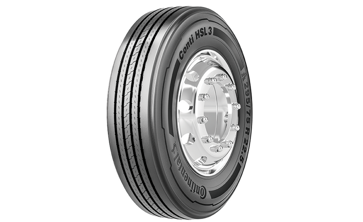 The renamed Conti HSL 3 is a heavy truck tire, designed for steer and all-position use, in long haul and super-regional applications.  - Photo courtesy Continental