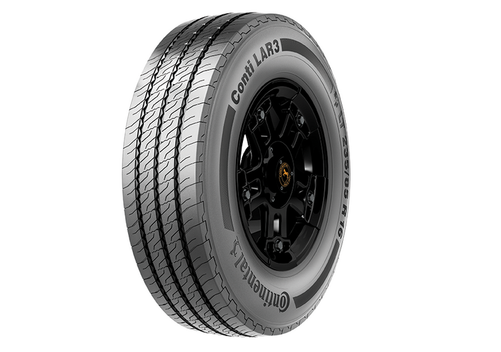 The 16-inch Conti LAR 3 all-position tire is designed for high scrub conditions.