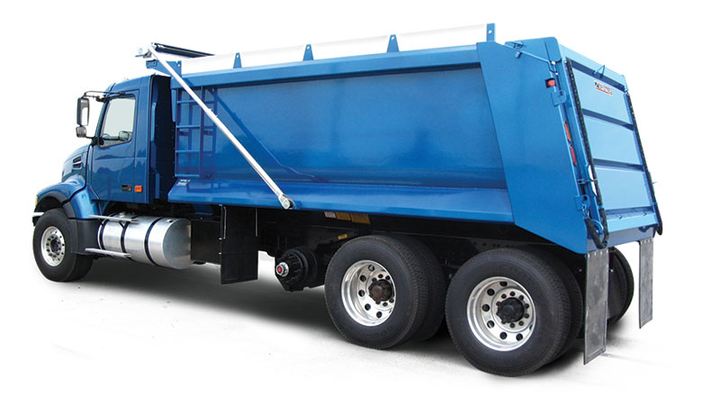 The Crysteel Manufacturing Raptor is a steel truck dump body designed for medium-duty trucks.  - Photo courtesy Crysteel Manufacturing