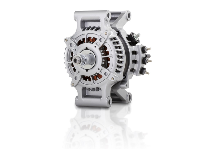 Denso Products and Services Americas' PowerEdge 24PE pad mount alternator is designed to be lightweight and efficient while meeting the electrical and performance requirements of heavy-duty trucks.  - Photo courtesy Denso