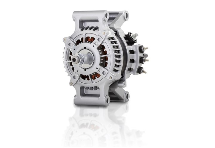 Denso Products and Services Americas' PowerEdge 24PE pad mount alternator is designed to be lightweight and efficient while meeting the electrical and performance requirements of heavy-duty trucks.