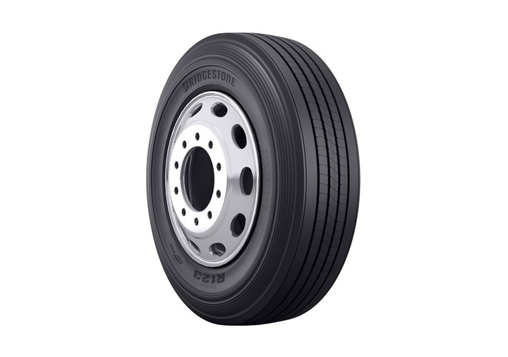 The Bridgestone R123 Ecopia Tire is a SmartWay verified trailer tire engineered to deliver low-rolling resistance and exceptional wear in long-haul and regional service applications.  - Photo courtesy Bridgestone