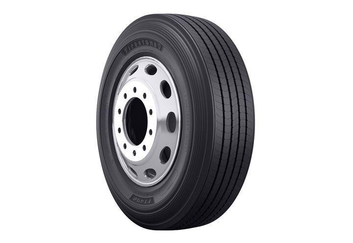 The Firestone FT492 trailer tire offers fleets a fuel-efficient, SmartWay-verified and California Air Resources Board compliant option.  - Photo courtesy Bridgestone Americas