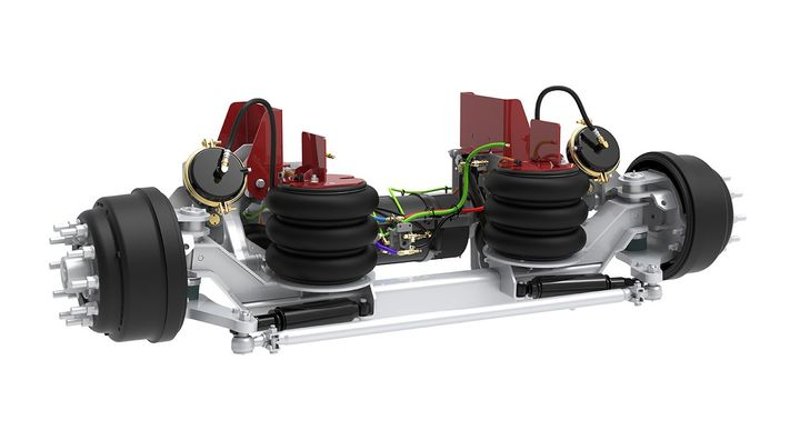 Link Manufacturing announced an enhanced 20K axle that incorporates the technological and component upgrades available in the company's lighter-capacity suspensions.  - Photo courtesy Link Manufacturing