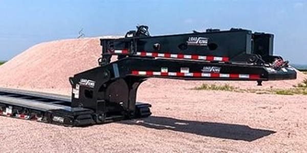 Load Kings new LK503/605 SS SF 60-ton Lowboy trailer features a 20-inch loaded deck height.