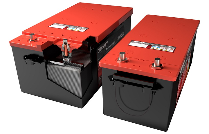 The EnerSys Odyssey Performance Series 4D-1300 and 8D-1500 batteries are engineered forcommercial trucks.  - Photo courtesy EnerSys