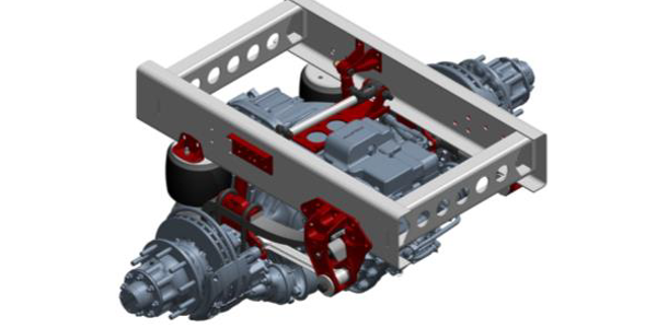 Reyco Granning Electric Vehicle Solutions' 240AR-EV drive axle air suspension was designed...