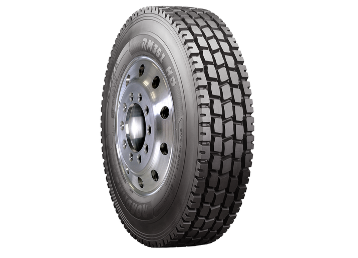 The Roadmaster RM351 HD tire is designed for both on- and off-road driving and comes in two sizes: 11R22.5 and 11R24.5, in load range H.