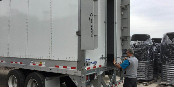 The Rocketail Wing is a rear drag reduction technology for trailers that improves fuel...