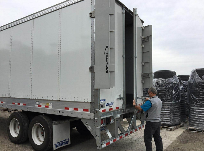 The Rocketail Wing is a rear drag reduction technology for trailers that improves fuel efficiency and is SmartWay verified.