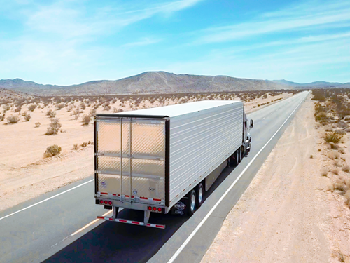 The Utility Aerodynamic Tail is designed to improve fuel efficiency and reduce aerodynamic drag on dry van and refrigerated trailers.
