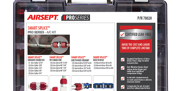 The Smart Splice Pro Series – A/C kit is designed for quick and durable line repair in air...