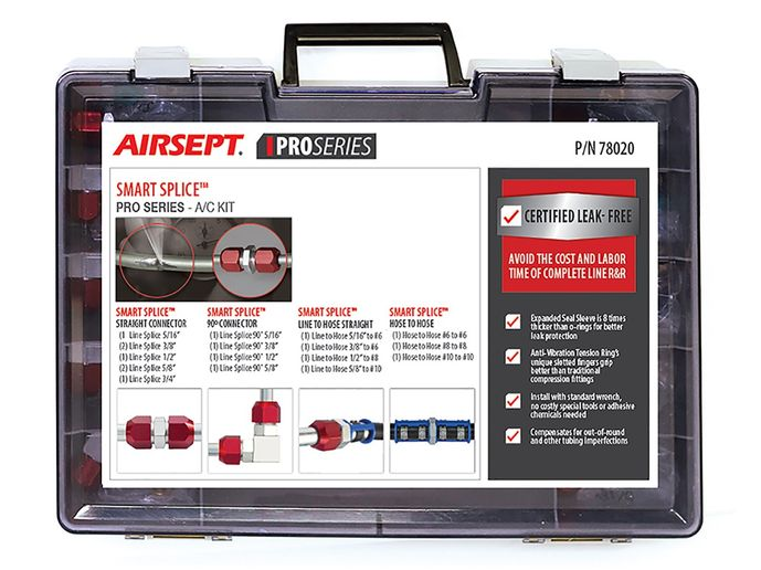 The Smart Splice Pro Series – A/C kit isdesigned for quick and durable line repair in air conditioning system equipment.  - Photo courtesy AirSept