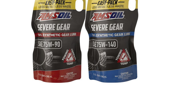 Amsoil debuted its Easy Pack flexible packaging, designed to make gear lube installations easier...