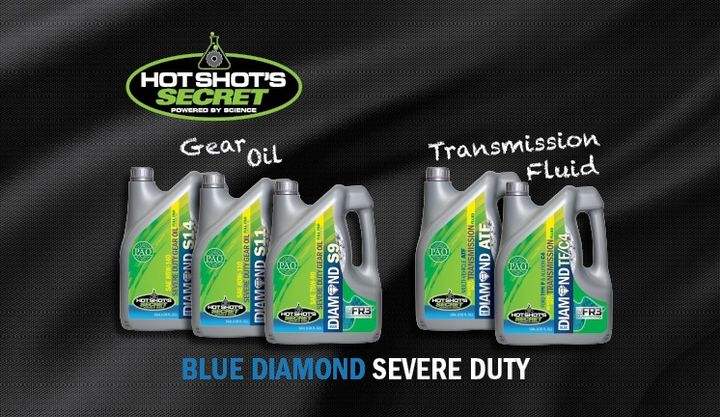 Blue Diamond Severe Duty Transmission Fluids and Gear Oils are designed for all vehicles that experience heavy loads, towing, or challenging terrain.