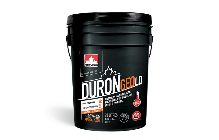 Duron Geo LD oil is API CK-4 licensed and approved for the latest Cummins natural gas oil specification CES 20092.