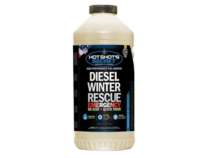 Diesel Winter Rescue is a fuel additive that is formulated to re-liquefy gelled fuel and de-ice frozen fuel filters.