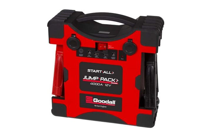 Available in both 12-volt and 24-volt systems, the Vanair Start-All Jump-Pack units weigh just 11 pounds for easy use and storage.  - Photo via Vanair