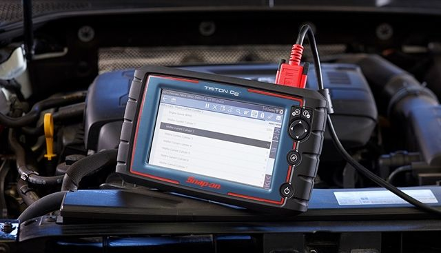 The Triton-D8 from Snap-on is a diagnostic tool designed to suit the needs of professional repair technicians.  - Photo courtesy Snap-on