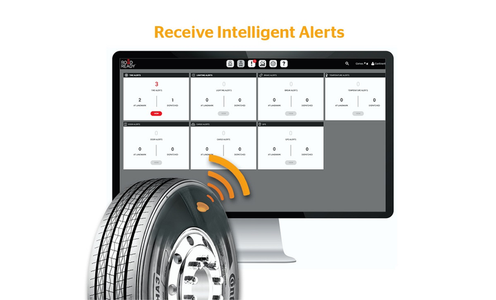 Continental has integrated its ContiPressureCheck tire pressure monitoring system with the Road Ready trailer telematics system from Truck-Lite.  - Photo courtesy Continental