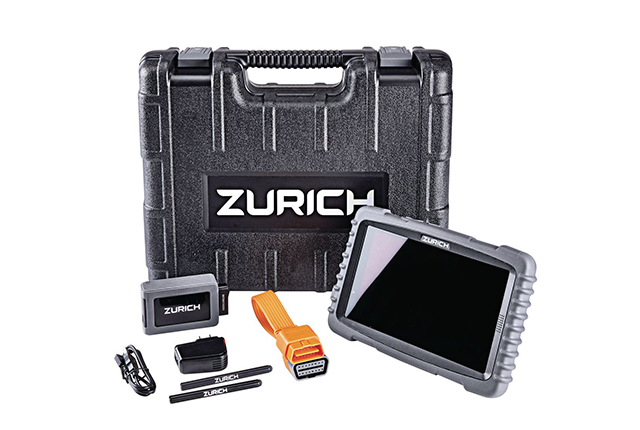 The Zurich ZRPro professional OBDII scanner is an automotive diagnostic tool and tablet.