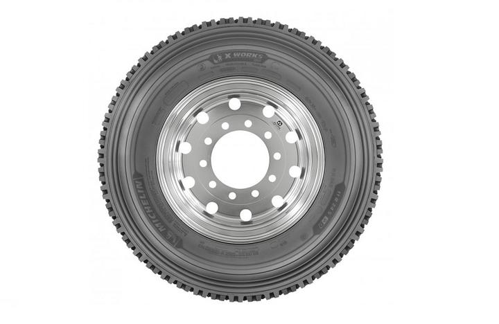 Michelin calls its new Michelin X Works Grip D tire the company's most aggresive drive-axle tire.  - Photo courtesy Michelin North America