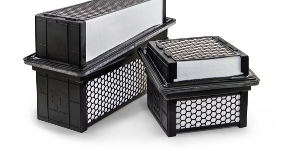 The EnduraCube line of air filters from Baldwin Filters features multi-layered, synthetic media...