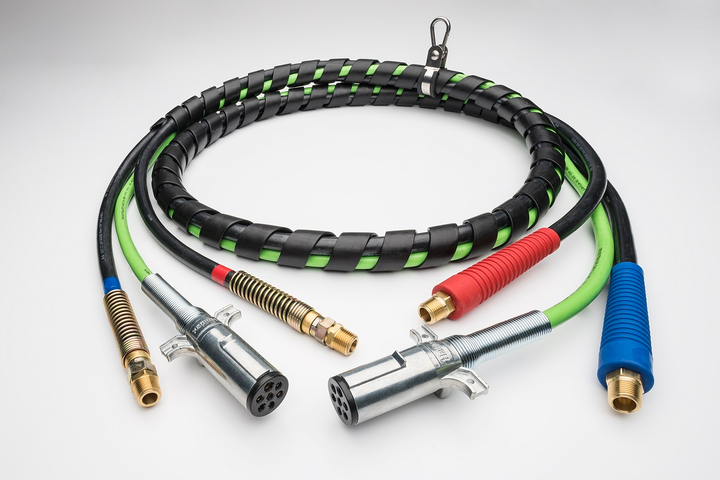 Haldex has announced its new line of Midland 3IN1 ConnectSets air and electrical accessories.  - Photo courtesy Haldex