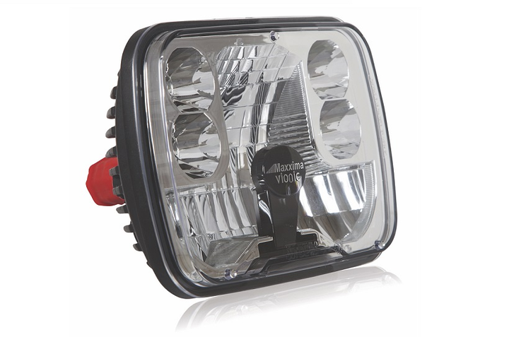 The MaxxHeat LED lamps have a heating element that is automatically triggered by low temperatures.  - Photo courtesy Maxxima