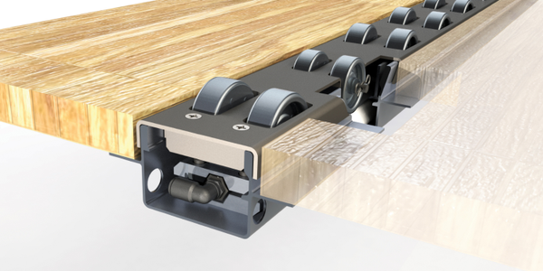 The Retract-A-Roll 4, the latest version of the company's pneumatic roller track system for...