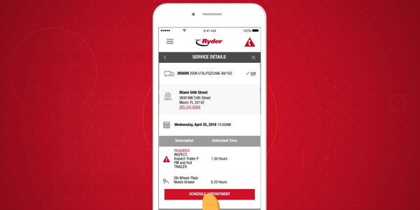 The RyderGyde App gives fleet managers more options for overseeing fleet operations.
