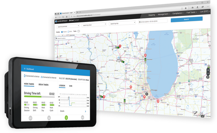 Rand McNally has expanded its telematics portfolio to serve local enterprise fleets with its DriverConnect software platform.  - Photo via Rand McNally
