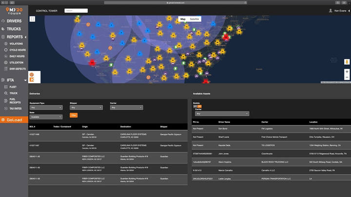 The latest upgrade to Konexial's My20 Tower is an enterprise-grade fleet management system based on My20 ELD next-generation telematics technology designed specifically for fleet managers.  - Screenshot courtesy Konexial
