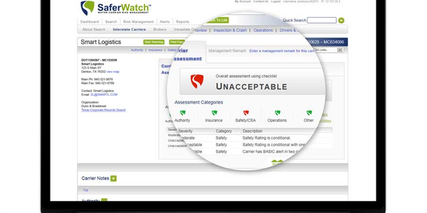 Trimble has integrated SaferWatch software into its TMW.Suite TMS, providing carrier information...