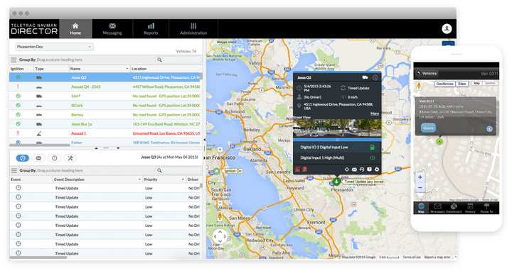 Build Your Own Report helps fleets break down telematics data into actionable and specific reports.  - Image via Teletrac Navman