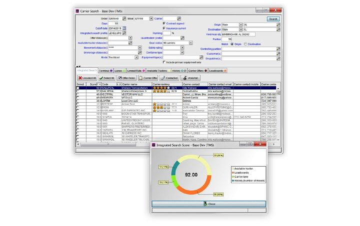 McLeod Software's TopMatch technology is a digital freight matching product that combines multiple carrier search criteria into a comprehensive search to find the best match for a load.  - Image via McLeod Software