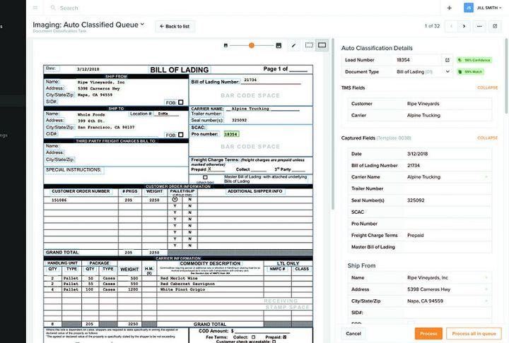 Vector Back Office can help carriers and shippers streamline data entry.  - Image courtesy Vector