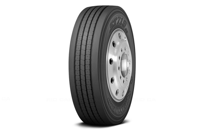 The Sumitomo ST719 is an all-position tire designed for regional and metro applications.