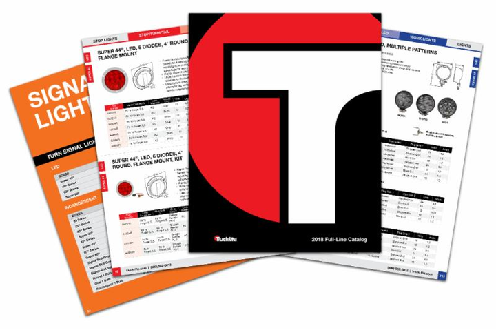 Truck-Lite has released its 2018 full-line catalog, containing information on all of the company's lighting, harness, mirror, and other trucking-related products.  - Photo courtesy Truck-Lite