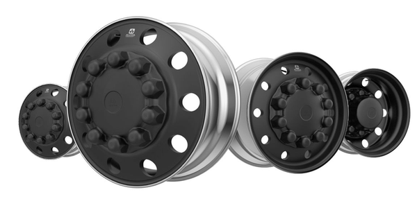 Kenworth is now offering its stylish Alcoa Dura-Black Wheel's for its heavy- and medium-duty...