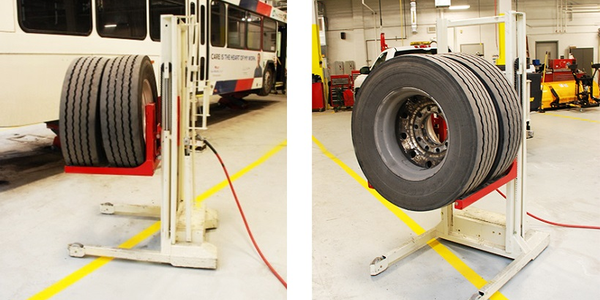 The WDA-500 high lift wheel dolly is designed to improve safety and performance when installing...