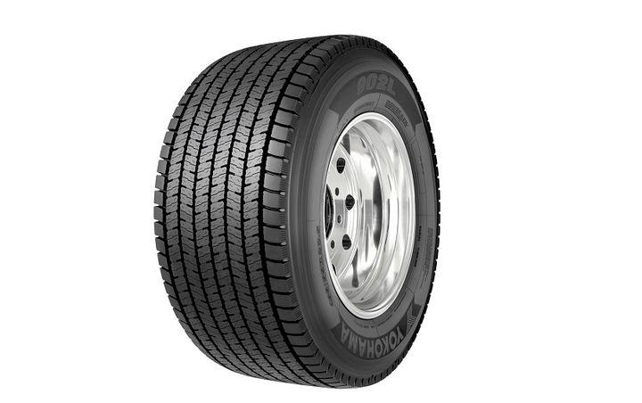 Yokohama is offering the 902L ultra wide baseline haul/regional drive tire in a455/55R22.5.  - Photo courtesy of Yokohama