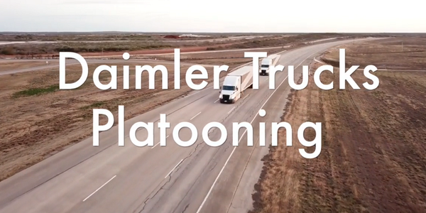 Daimler Demonstrates Platooning Technology [Video]