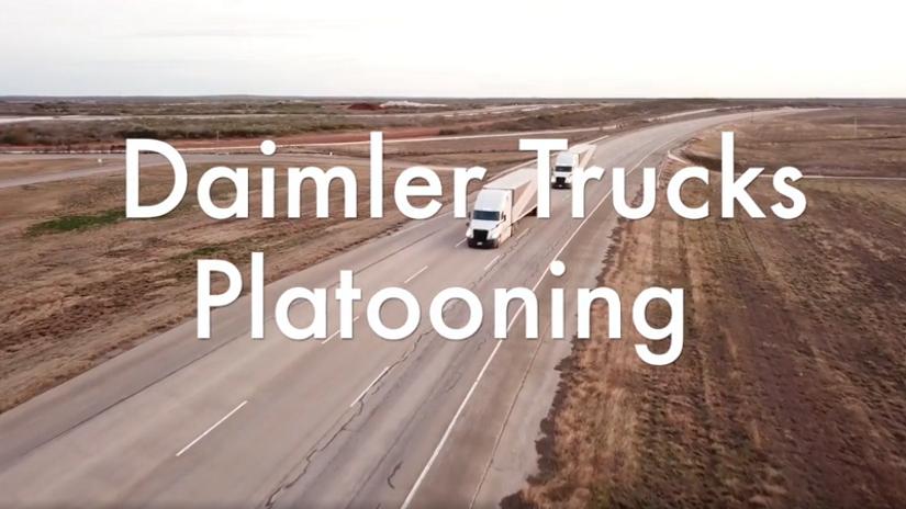 Daimler Demonstrates Platooning Technology [Video]