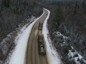 Truck Platooning on Forest Roads [Video]