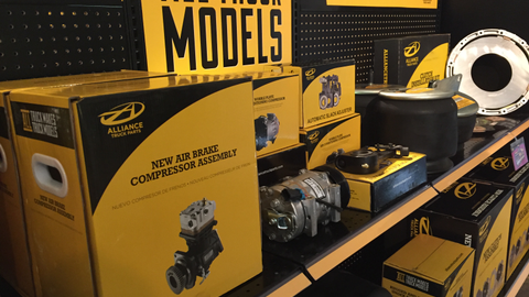 Alliance Truck Parts is amping up its retail game, as it displayed to reporters recently.