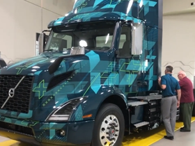 On the Spot: Volvo's Electric VNR [Video]