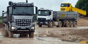 Off-roading with Mercedes Trucks