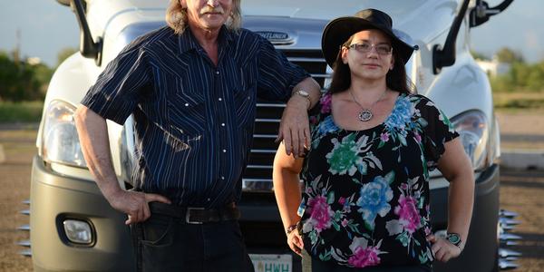 Art Johannson and Amanda Jones. Photo courtesy Drivewyze